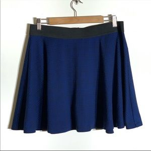 Forever 21 Plus Blue and Black Plaid Circle Skirt